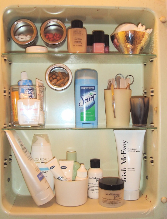 bath cabinet after