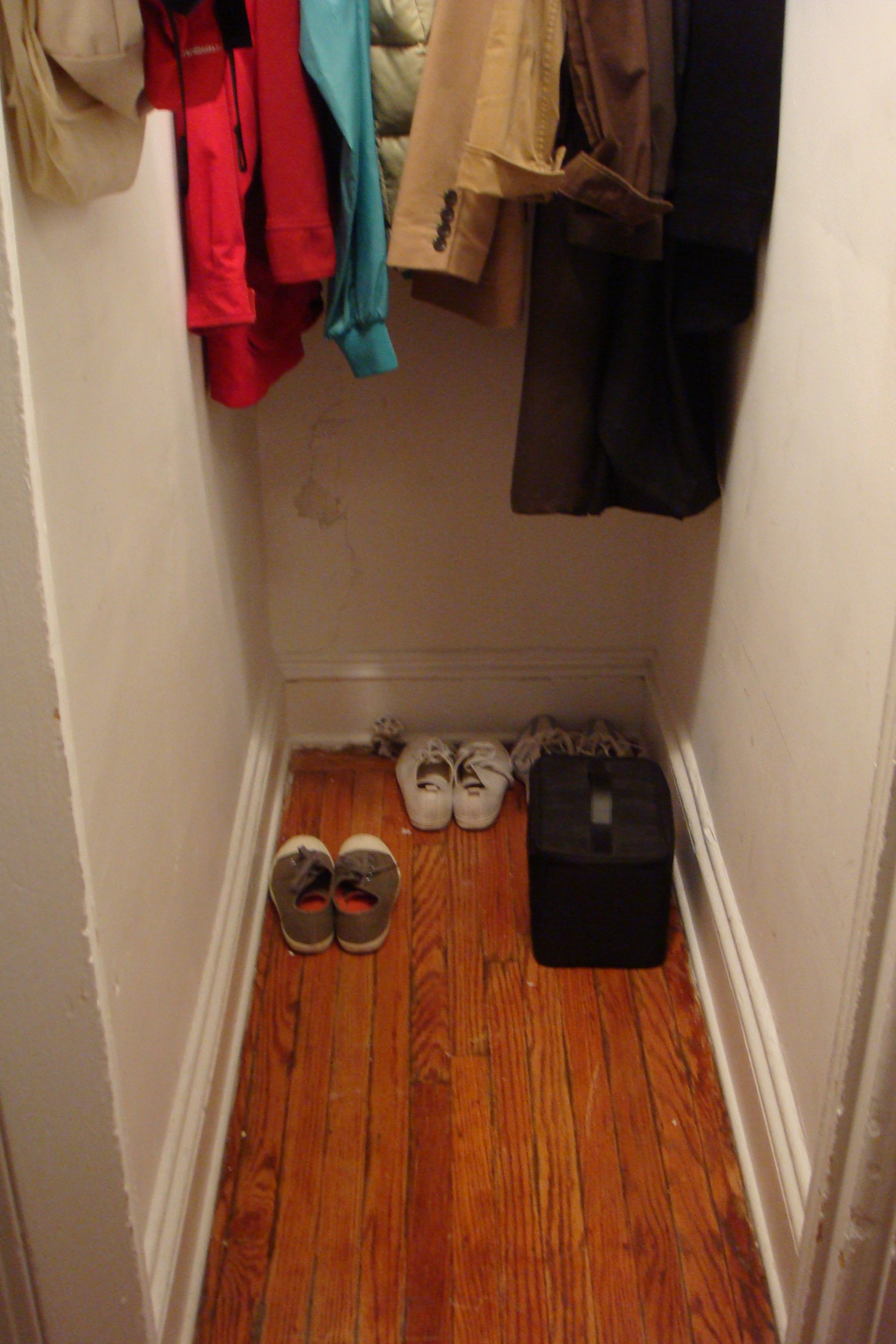 Deep Coat Closet Before After