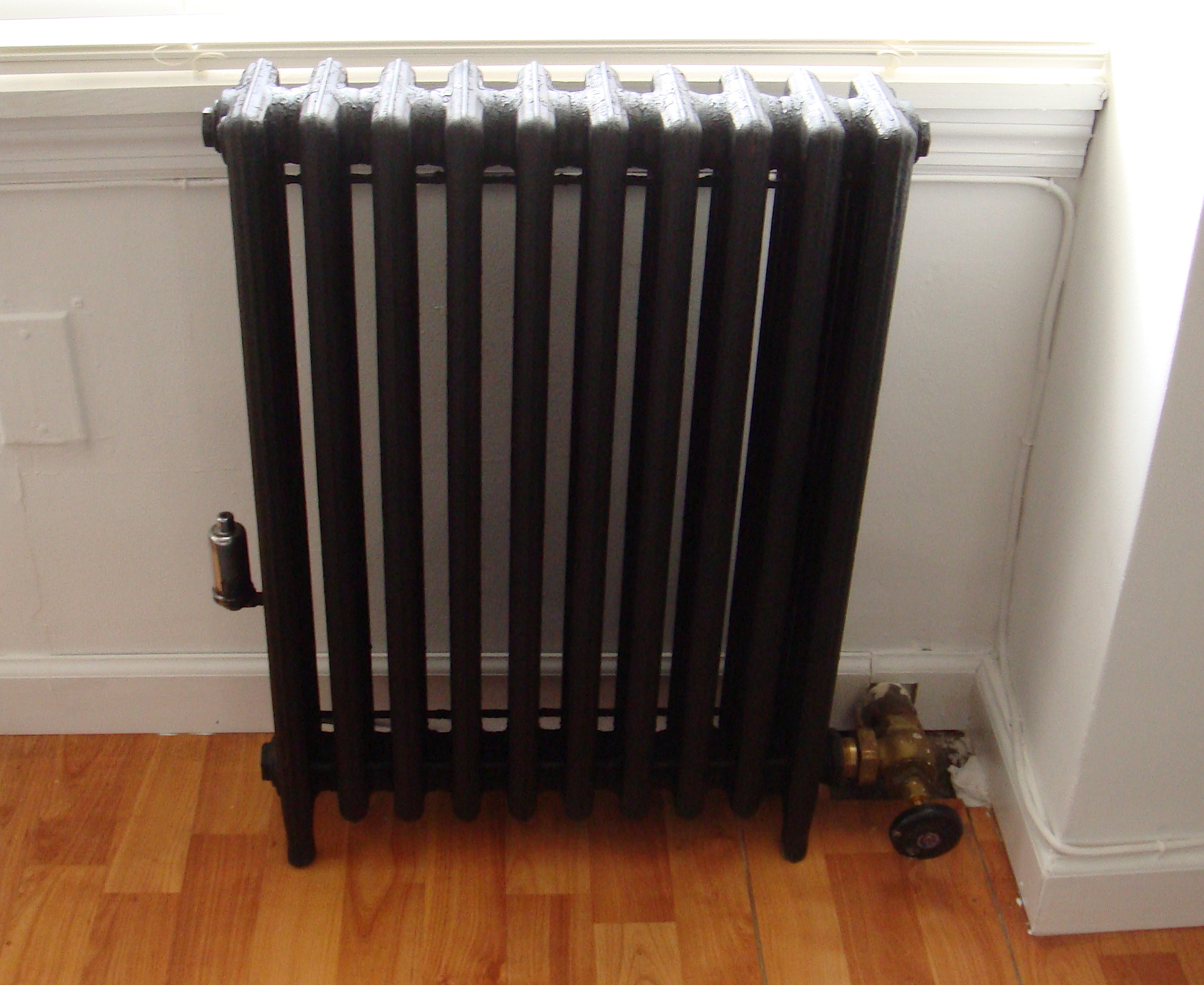Spray Painting Radiator Black