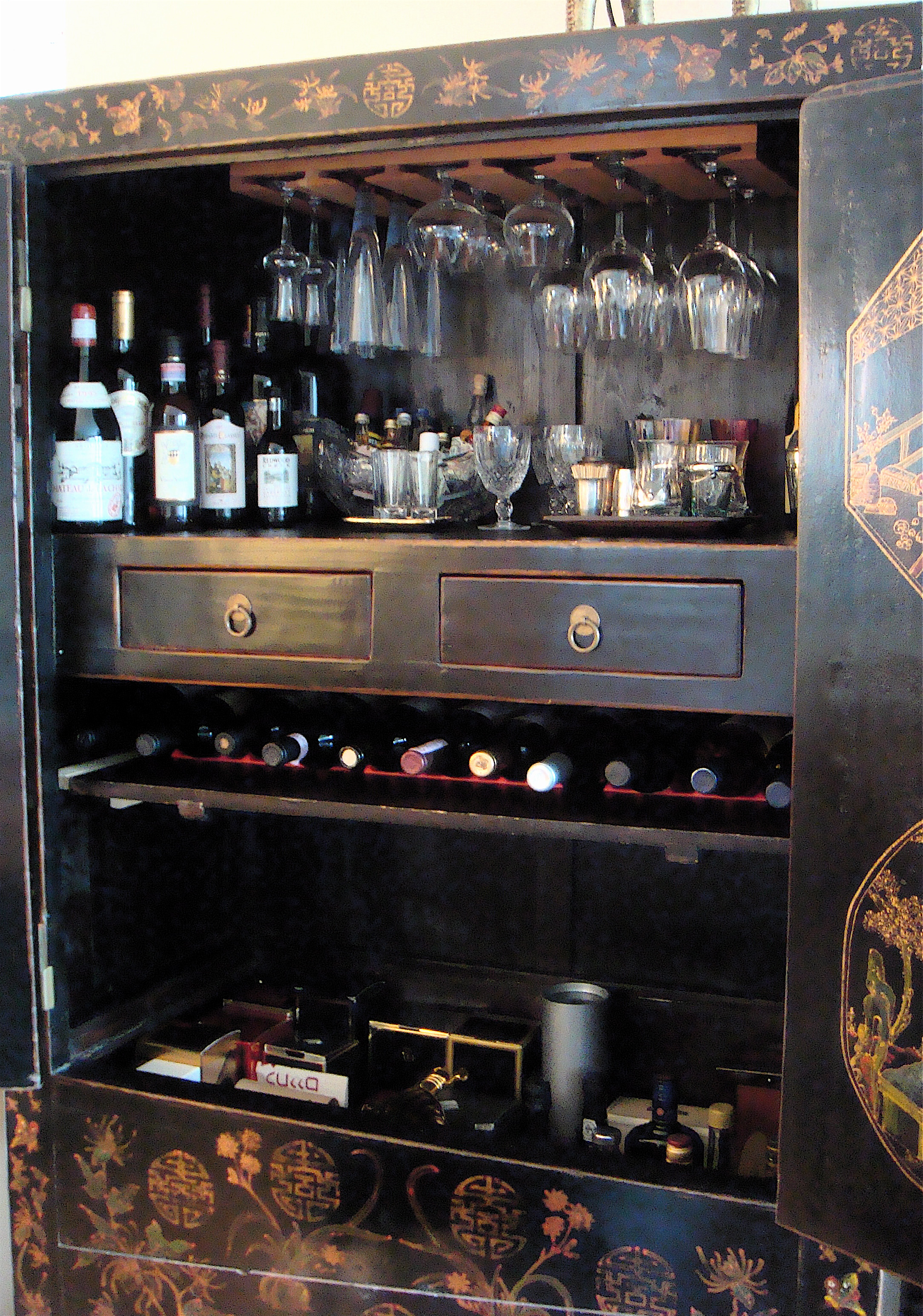 Wood Work Build A Hidden Liquor Cabinet PDF Plans
