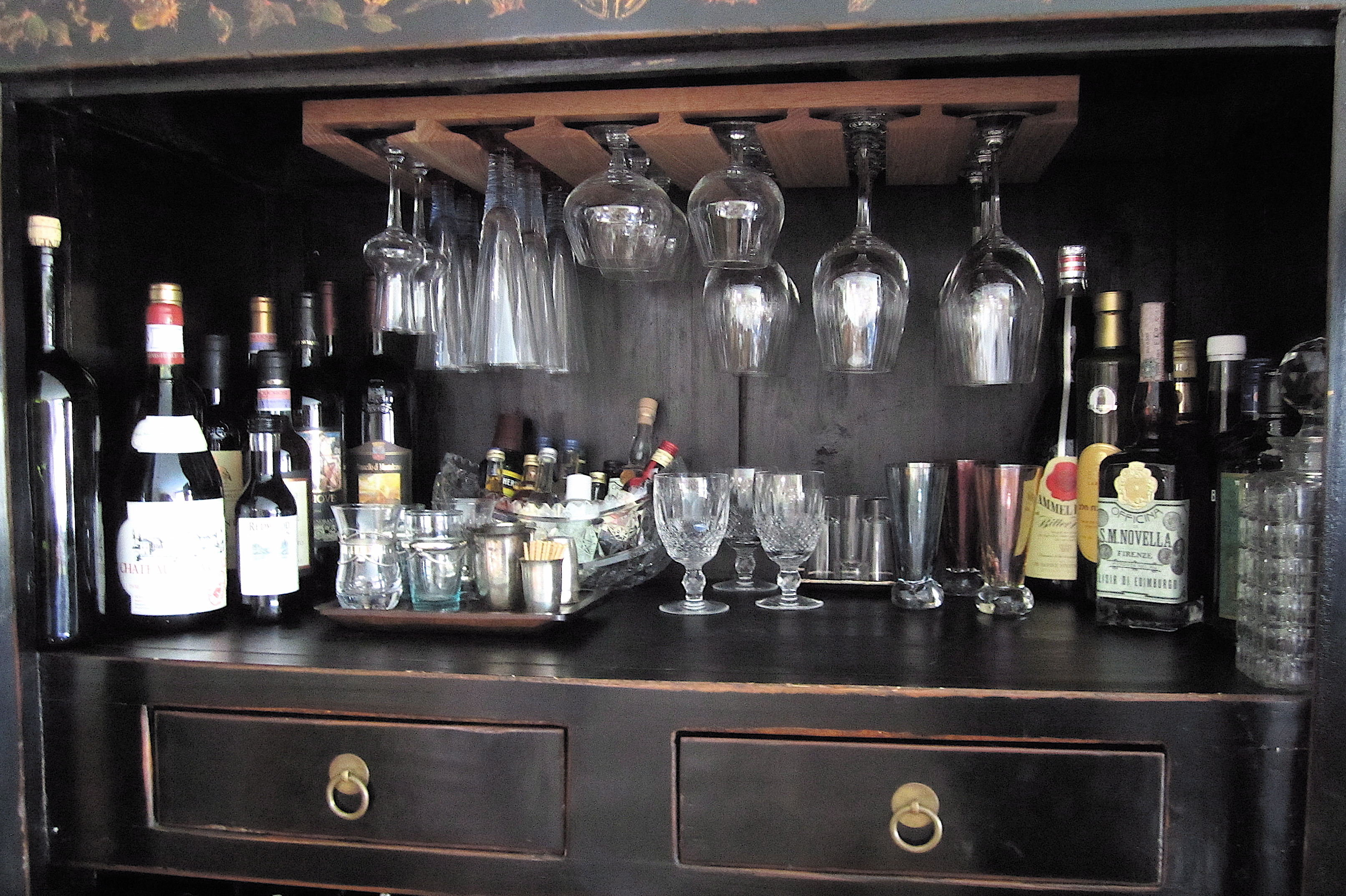 when i saw this cabinet i wait to get my hands on it at the head of the dining table i knew it would be great as a serving station or
