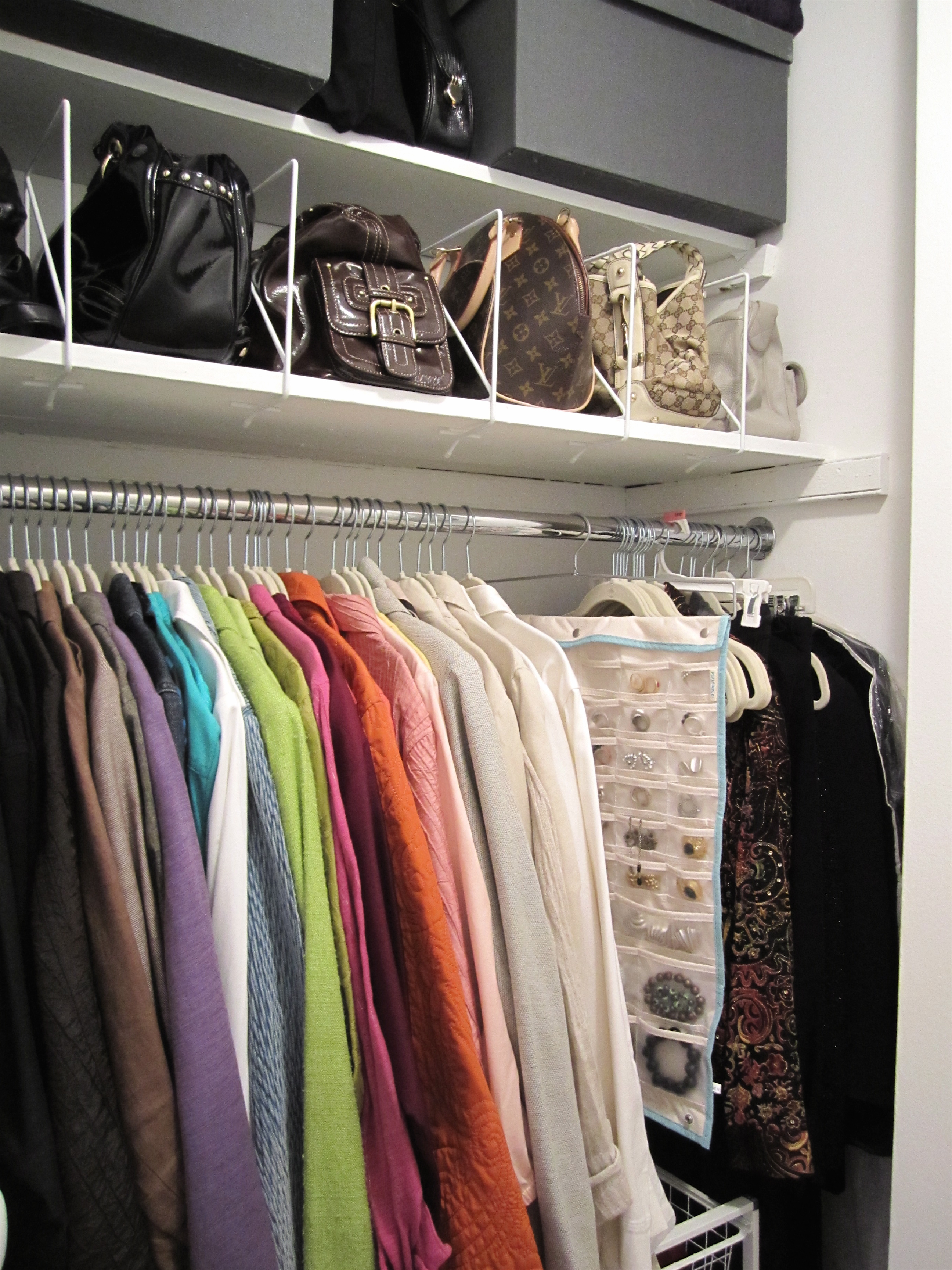 This Apt Has Two Great Clothes Closets And I Wanted To Show The Progress  Weu0027ve Made With Them. Closet #1 Has Boxed And Hanging Off Season Clothes,  ...