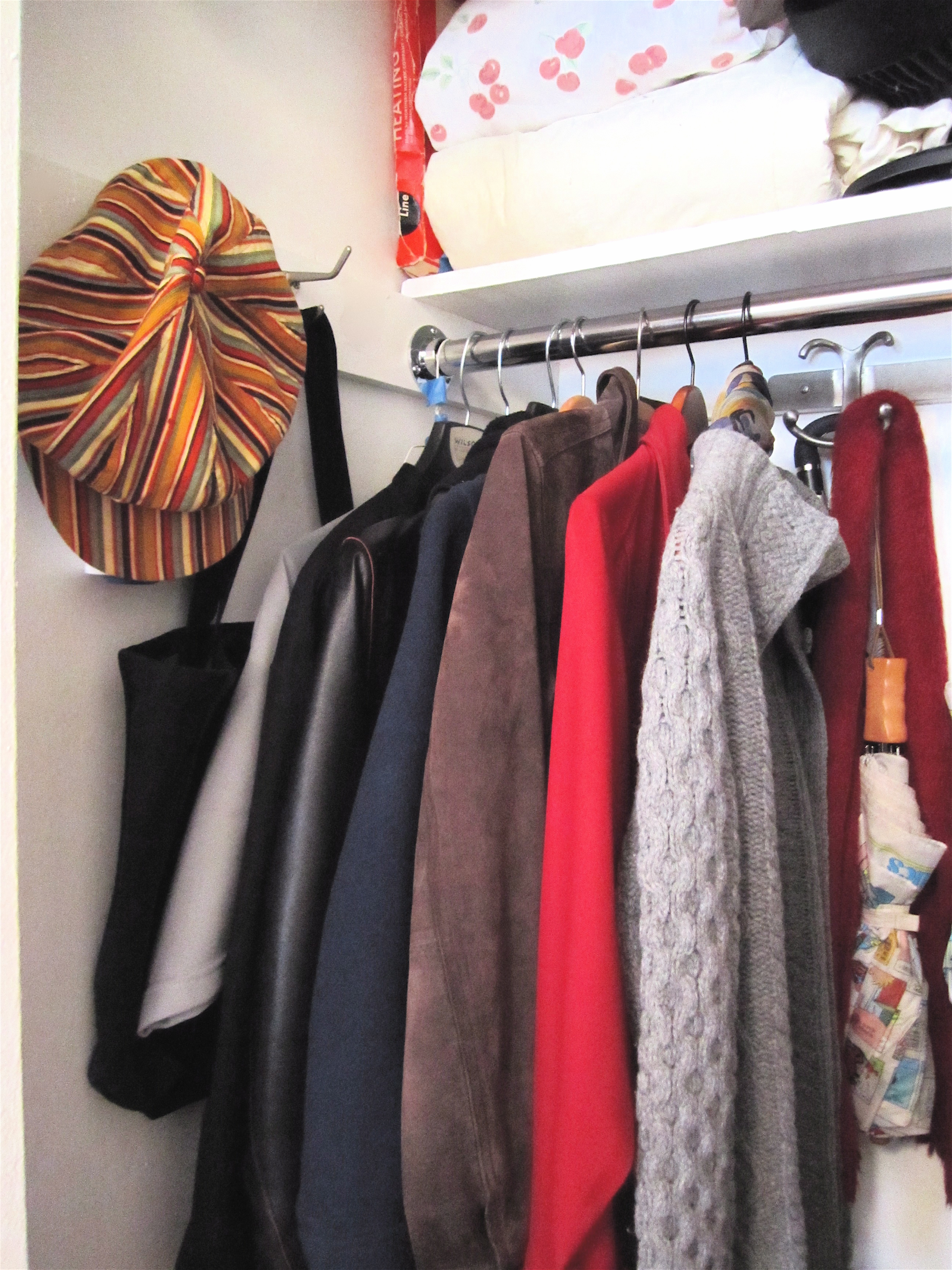 This Closet Was Organized Re Using Things This Client Already Had, With The  Exception Of The Shiny New Closet Rod. There Are 2 Small Pieces Of Luggage  ...