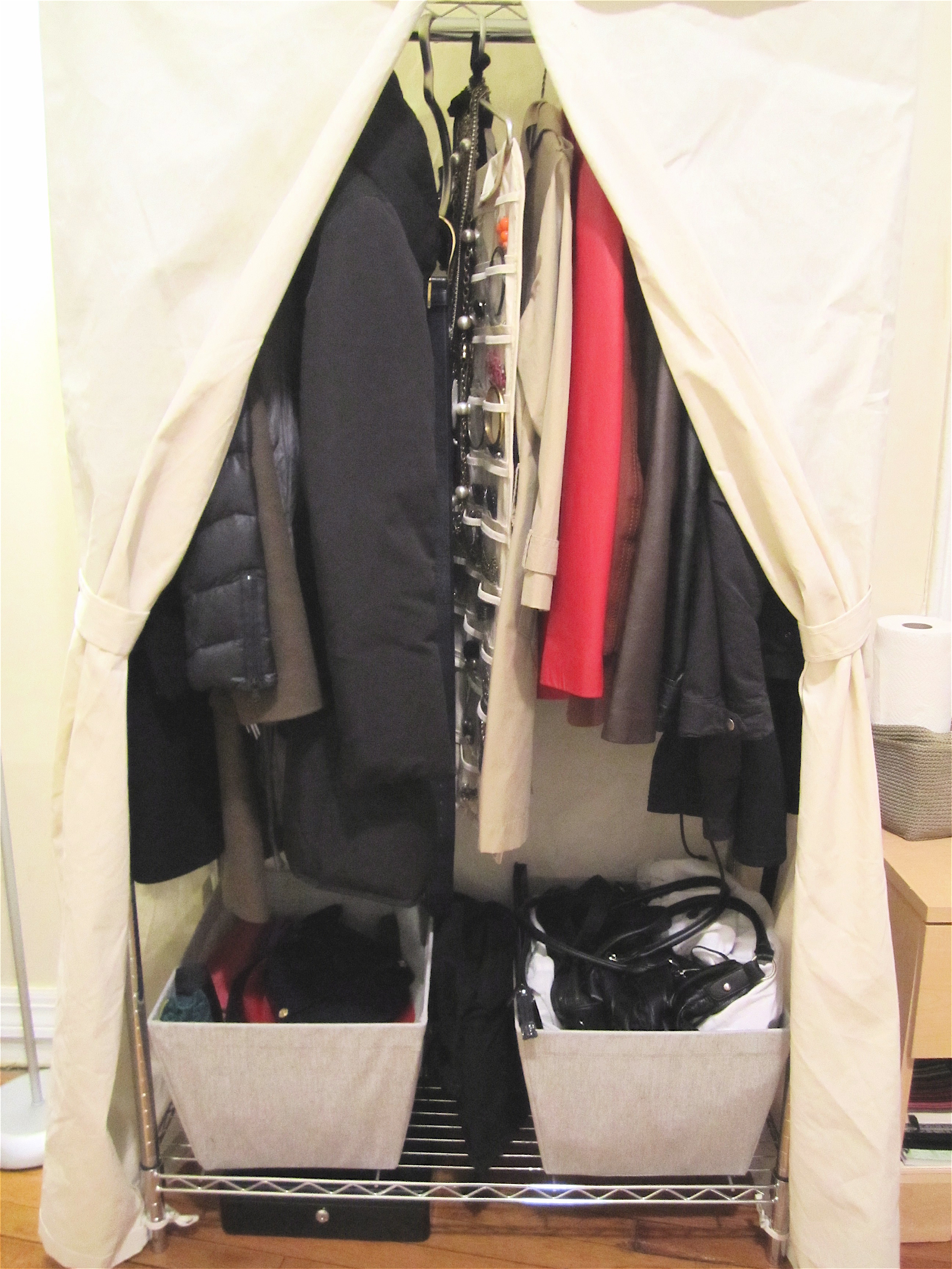 double standing closetfree modified projects closet system diy for white hanging pin freestanding ana