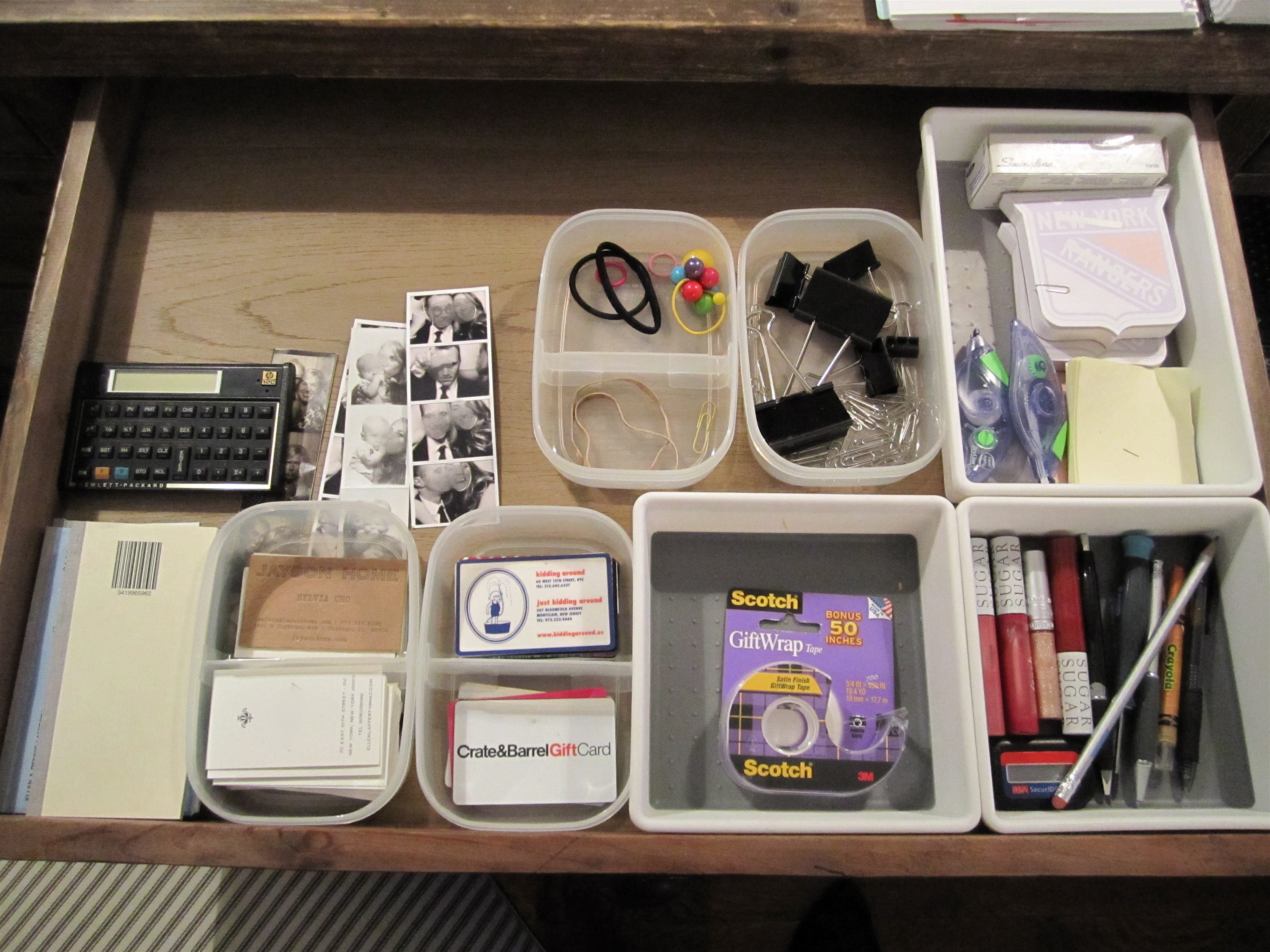 Organized Desk Drawers