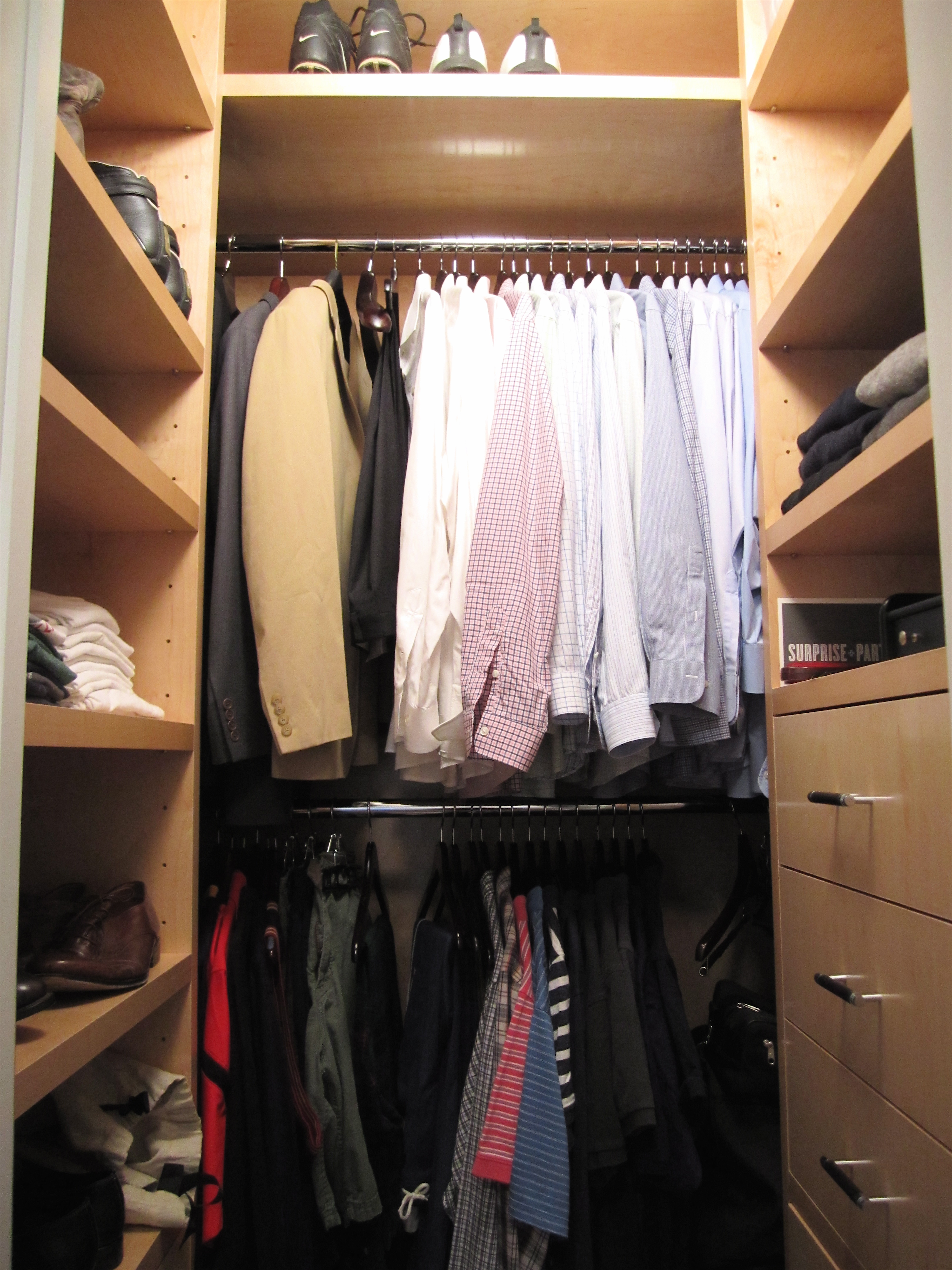 extra in shelf clothes for an be soon our great to baby closet the idea organized pin added small nursery
