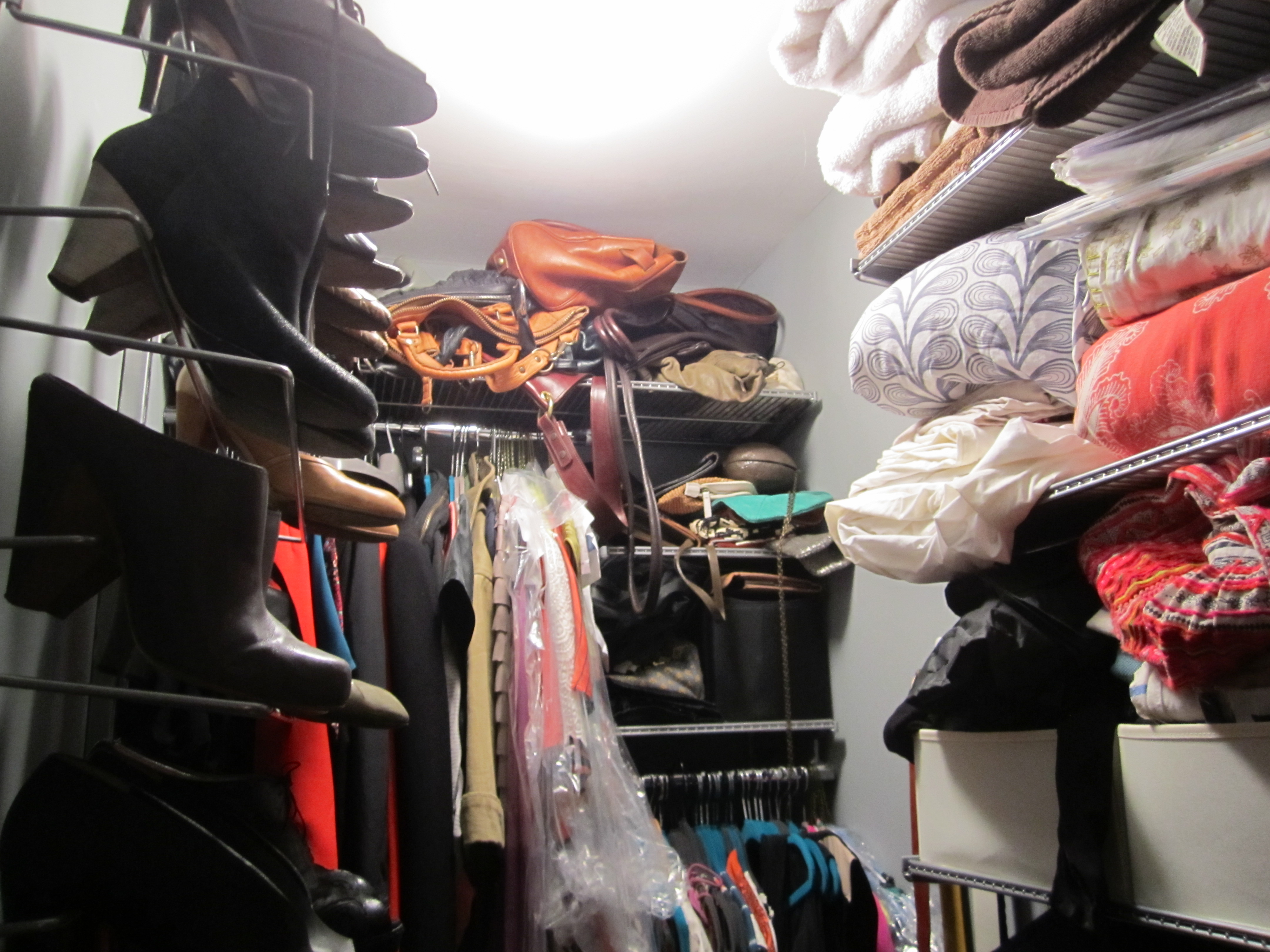 shoe cabinet + elfa closet: before + after «