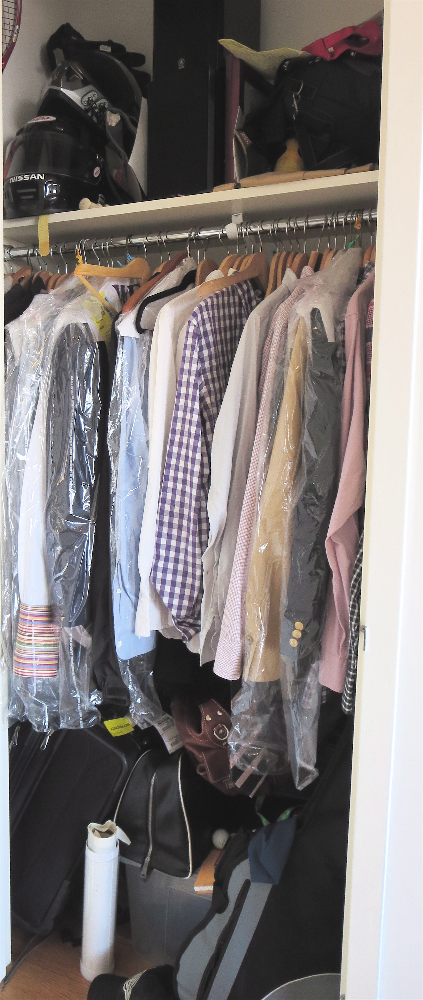 This Client Just Moved Into This Rental And Wanted A Quick Inexpensive Fix  To His Clothes Closet. Hereu0027s What I Did: